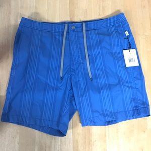 "Onia Calder Swim Shorts Trunks 7.5"" Blue NEW"